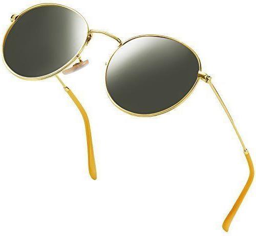 new retro brand polarized sunglasses vintage round