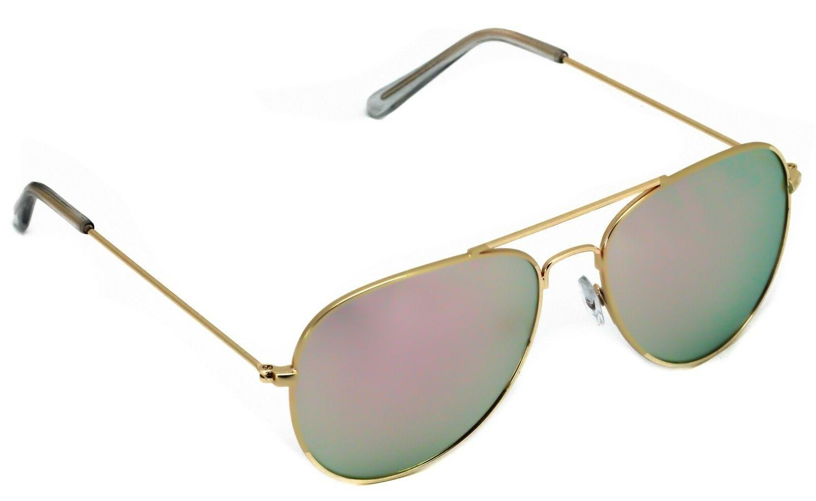 New Rose Aviator Unisex Sunglasses Iridescent Men