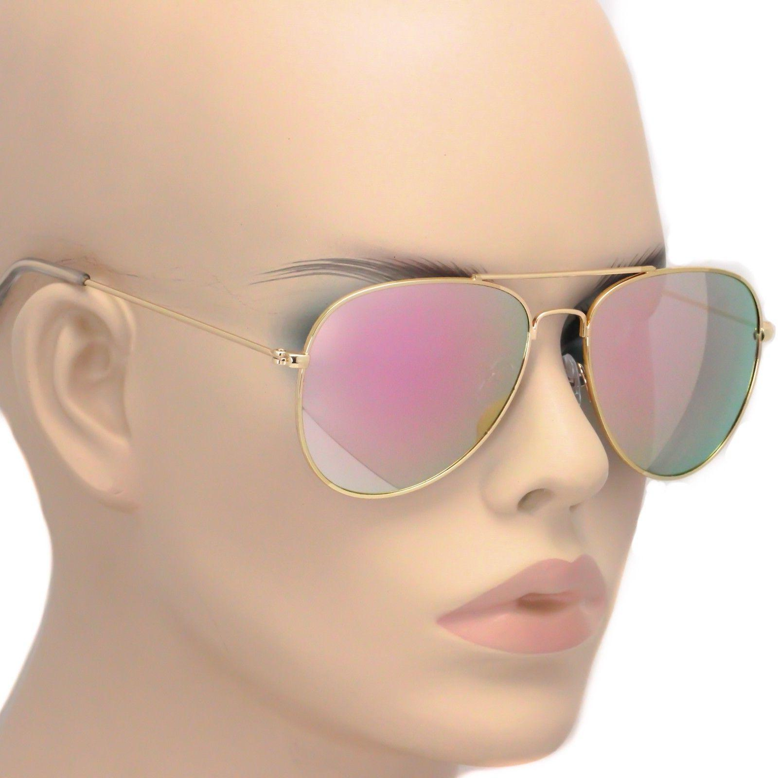 new rose gold aviator unisex sunglasses iridescent