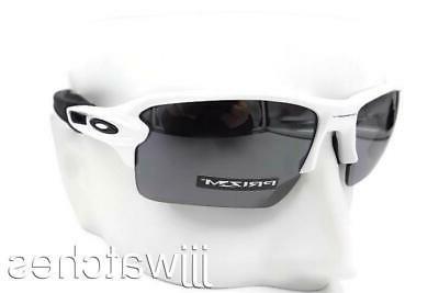 New Oakley Sunglasses Flak 2.0 XL Plsh White w/Prizm Blk Pol