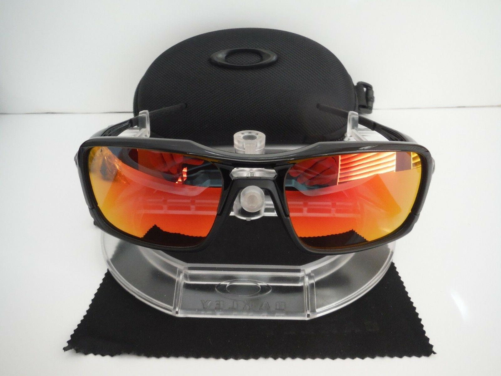 New Oakley Triggerman Sunglasses OO9266-05 With Red Polarize