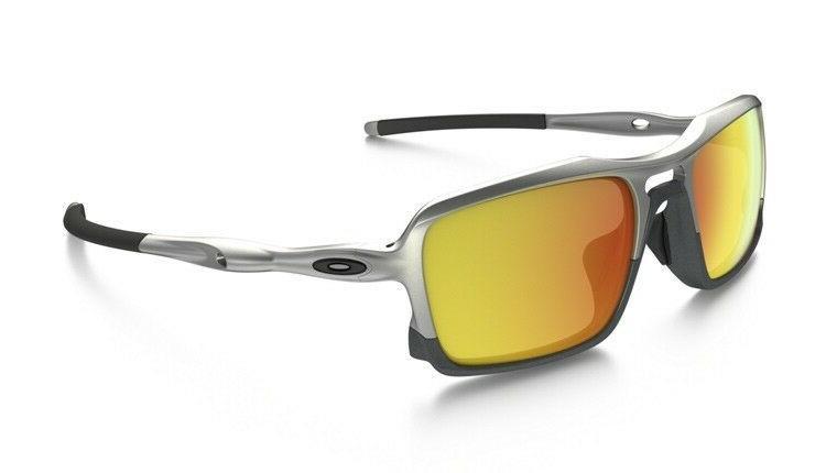 NEW Oakley - Triggerman - Sunglasses, Silver / Fire Iridium,