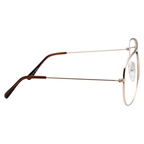 Aviator Clear Glasses Gold