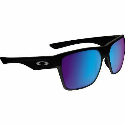 Oakley Mens Two Face XL Polarized Sunglasses, Matte Black/Sa