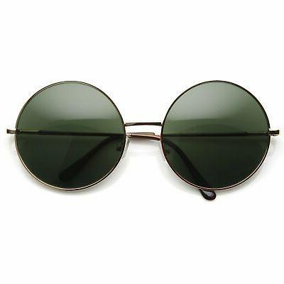Oversize Vintage Metal Round Circle Sunglasses