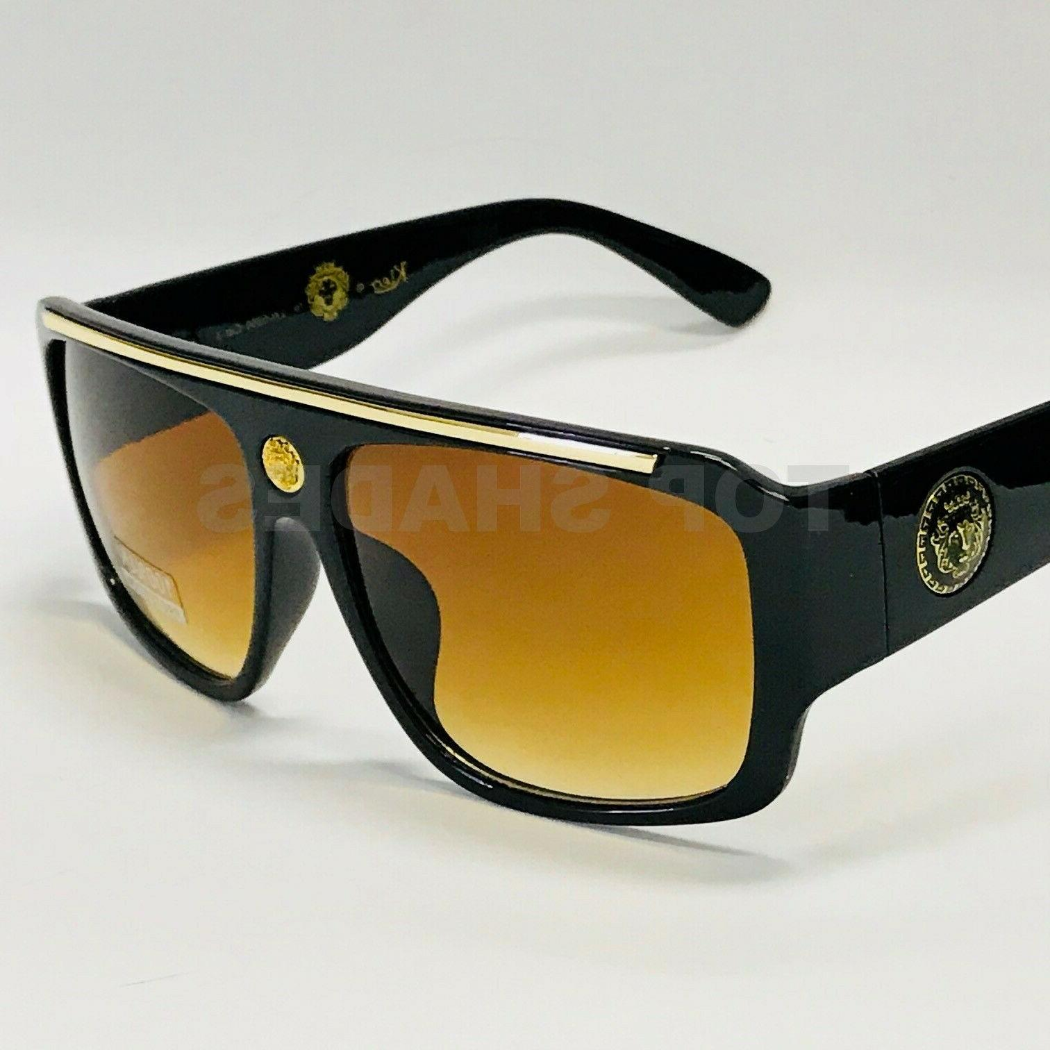 Oversize Fashion Design Aviator Style Gradient Shades