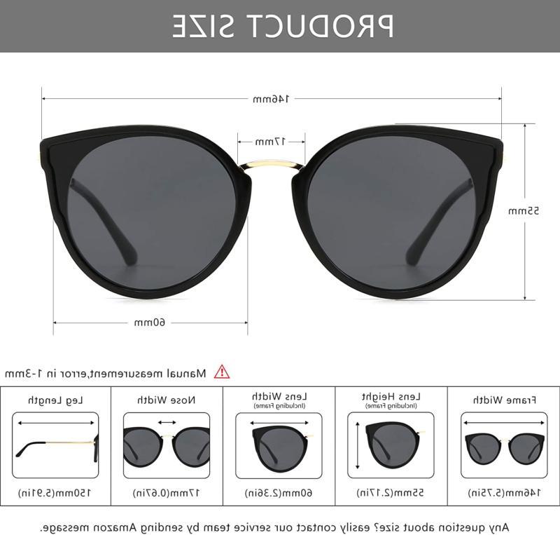 Sungait Oversized Retro Vintage Cat Sunglasses Women Polarized