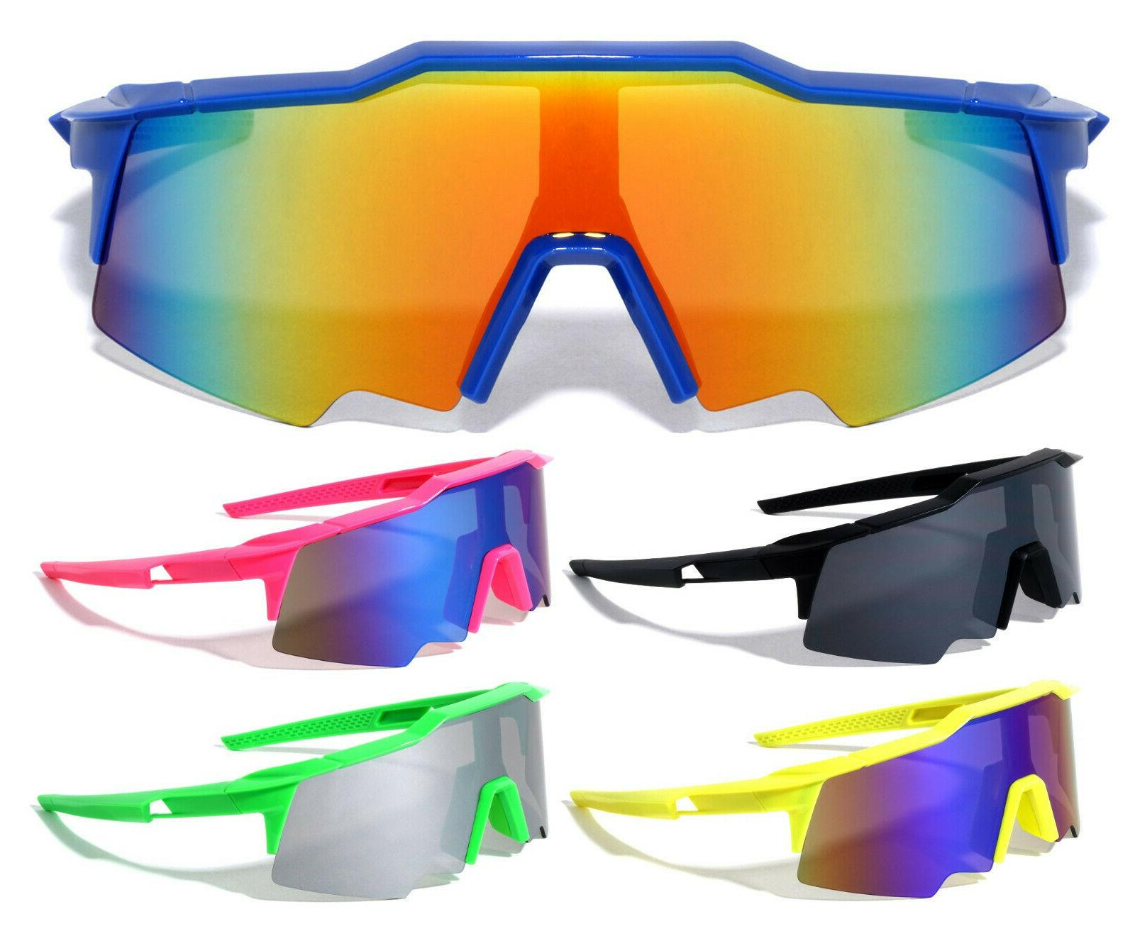 oversized semi rimless shield wrap around sunglasses