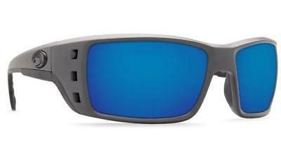 Costa Permit Polarized 580P Sunglasses Matte Gray Blue Mirro
