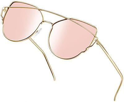 polarized cat eye sunglasses for women metal