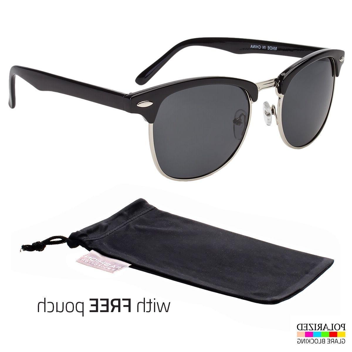 polarized club master sunglasses vintage designer metal