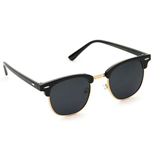 Polarized Half Frame Semi Rimless Sunglasses