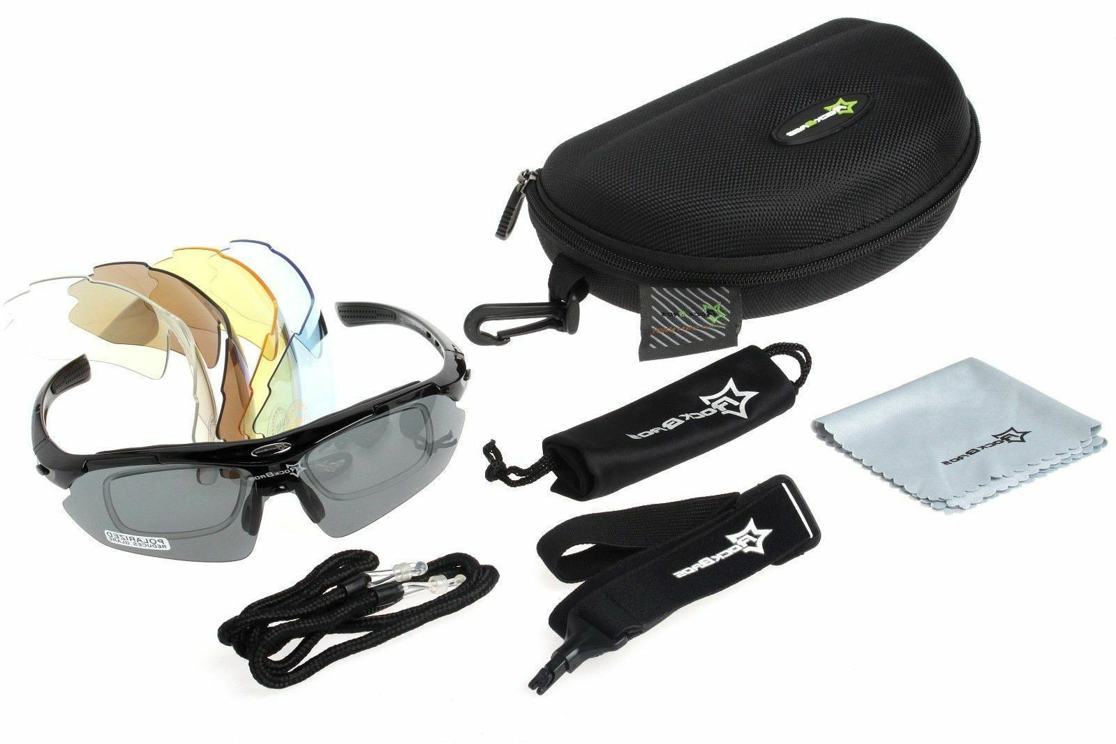 polarized cycling sunglasses bike goggles riding hiking