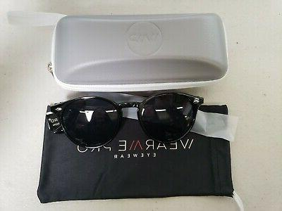 polarized lens black horned rimmed sunglasses black