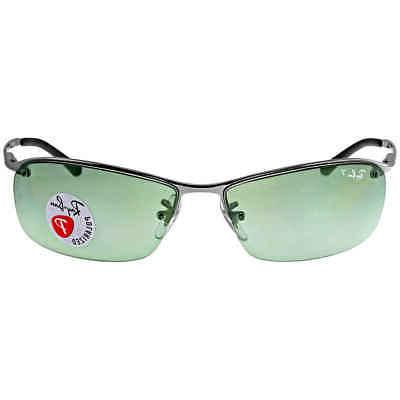 Ray-Ban Men's Polarized RB3183-004/9A-63 Silver Semi-Rimless