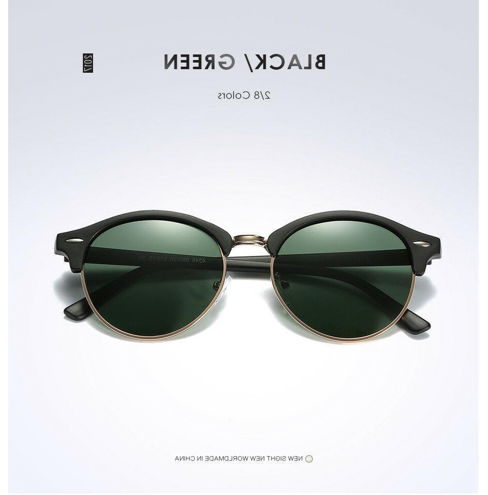 Polarized Retro Classic Sunglasses Men Mirrored Sunglasses