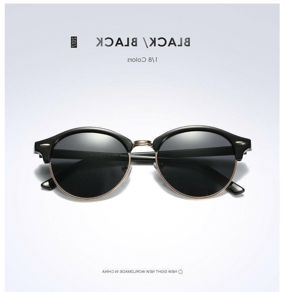 Polarized Retro Sunglasses Women Mirrored Sunglasses