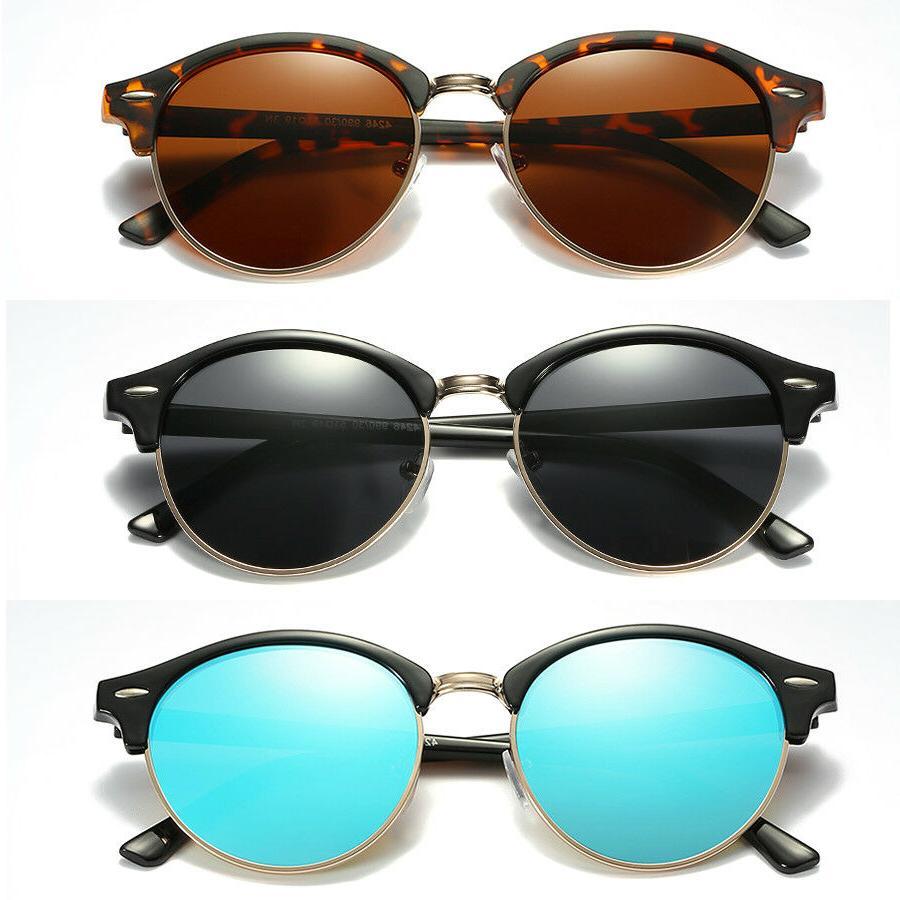 polarized retro classic clubround sunglasses men women