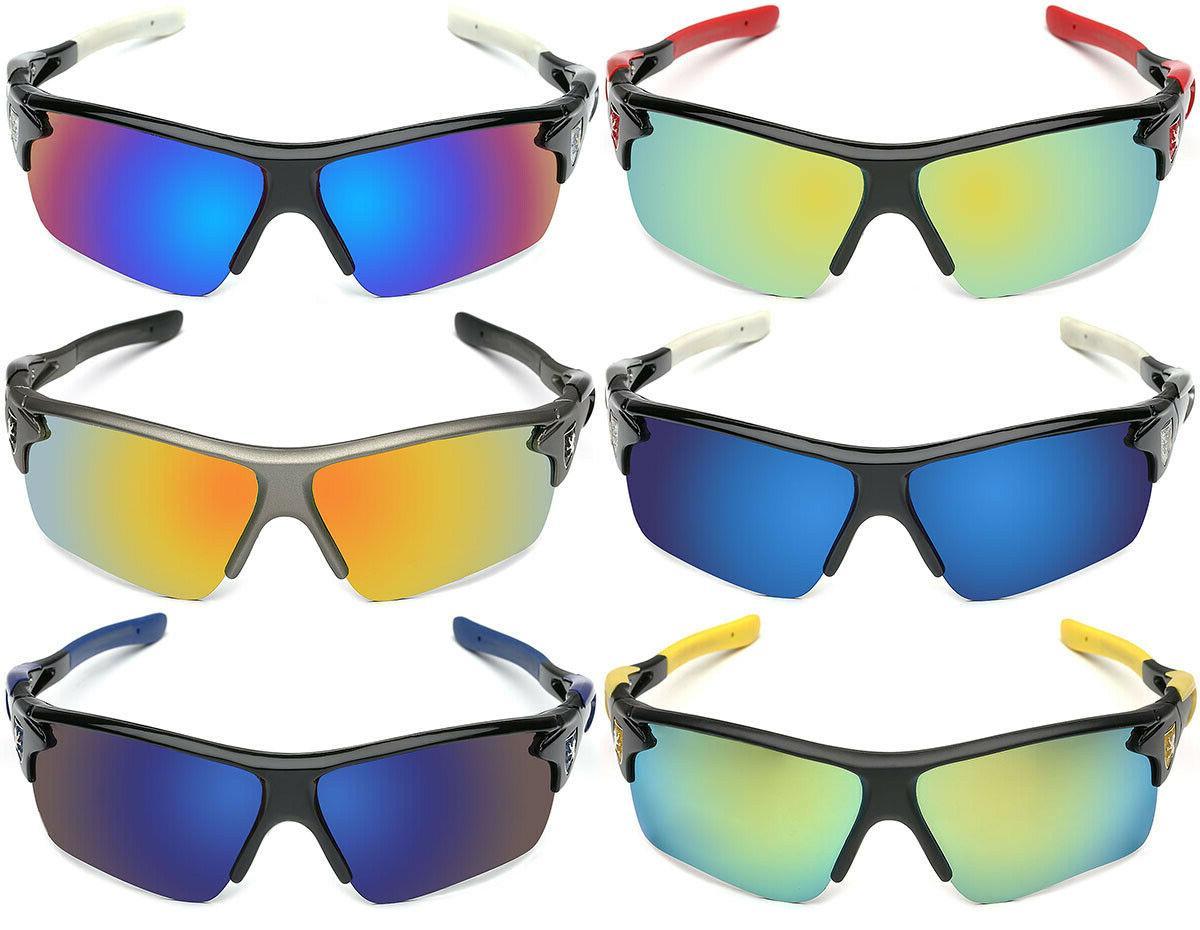 Polarized Baseball Ski Sunglasses Mirror Lens Glasses
