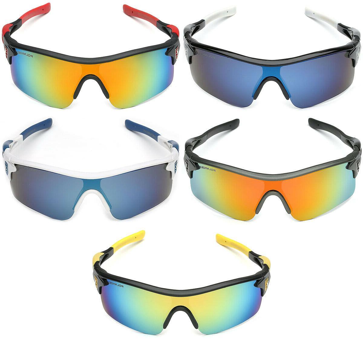 Polarized Sport Baseball Ski Sunglasses Mirror Lens