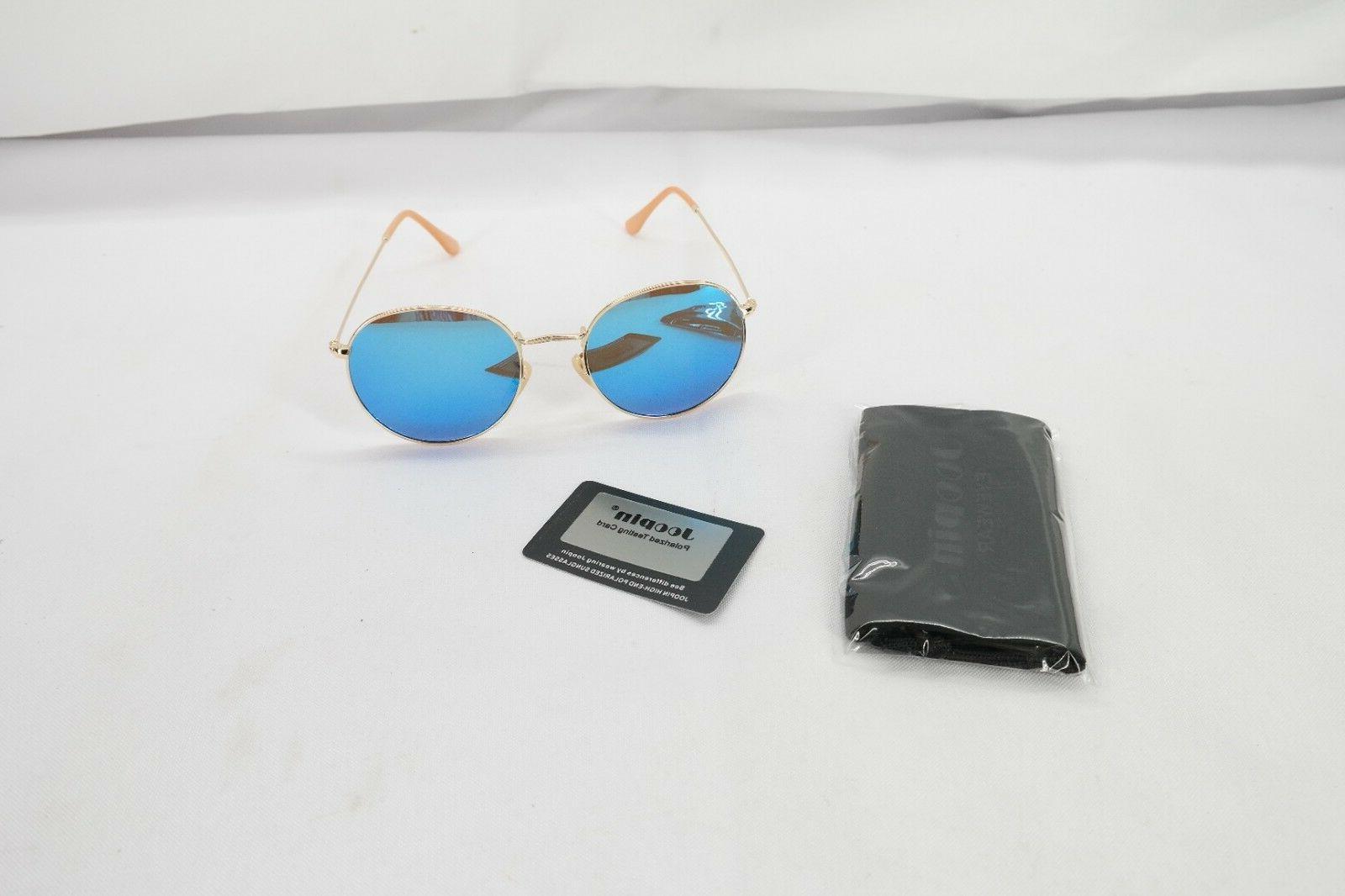 Joopin Polarized Lens Sun Glasses Vintage Round