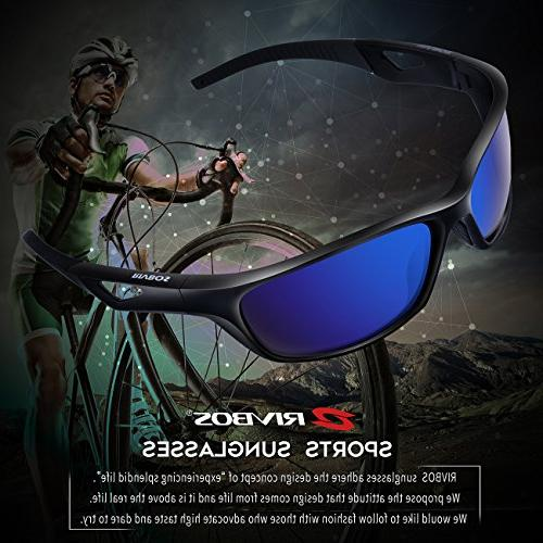RIVBOS Polarized Sports Driving Glasses Women Tr90 Unbreakable for Cycling Rb831