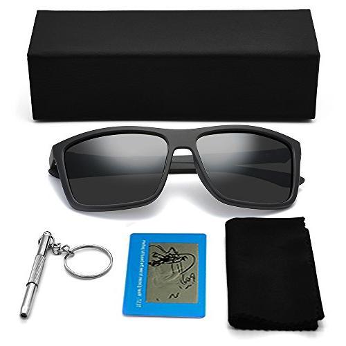 Polarized for Men Driving Sunglasses Vintage Sun Glasses For Men/Women Matte