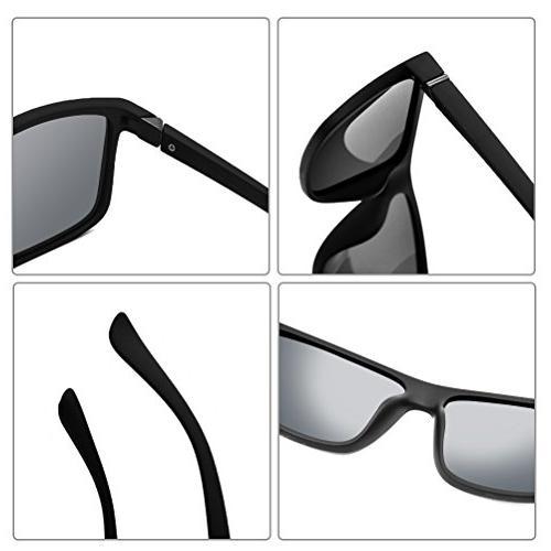 Polarized Sunglasses for Driving Mens Sunglasses Vintage Sun Men/Women Matte Black