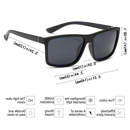 Polarized Sunglasses Driving Mens Sunglasses Vintage Sun For Men/Women Matte