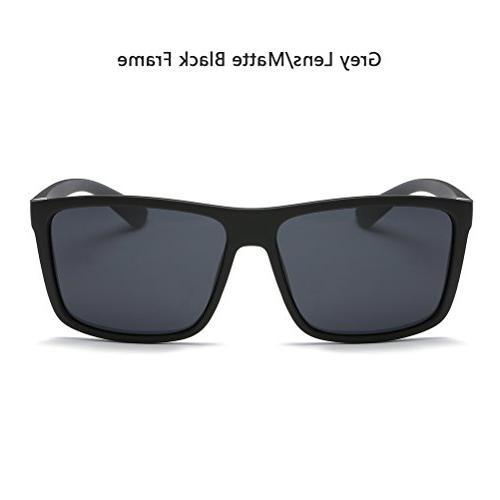 Polarized Sunglasses Driving Mens Sunglasses Vintage Glasses For Men/Women Matte Black