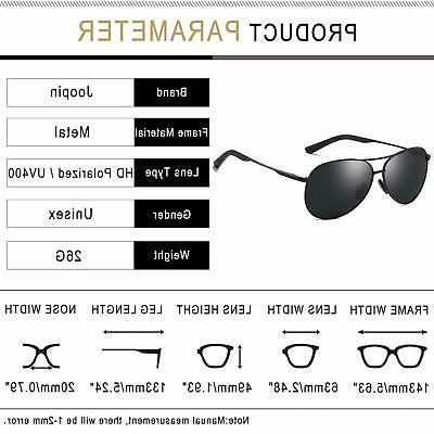 Joopin Women Sunglasses, Polarized Mirrored Frame Black