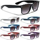 Polka Dot Retro Men Women Sunglasses Black White Red Flex Fi