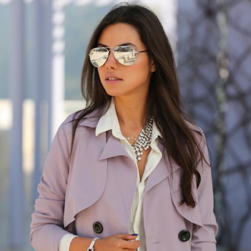 premium military mirrored lens metal aviator sunglasses