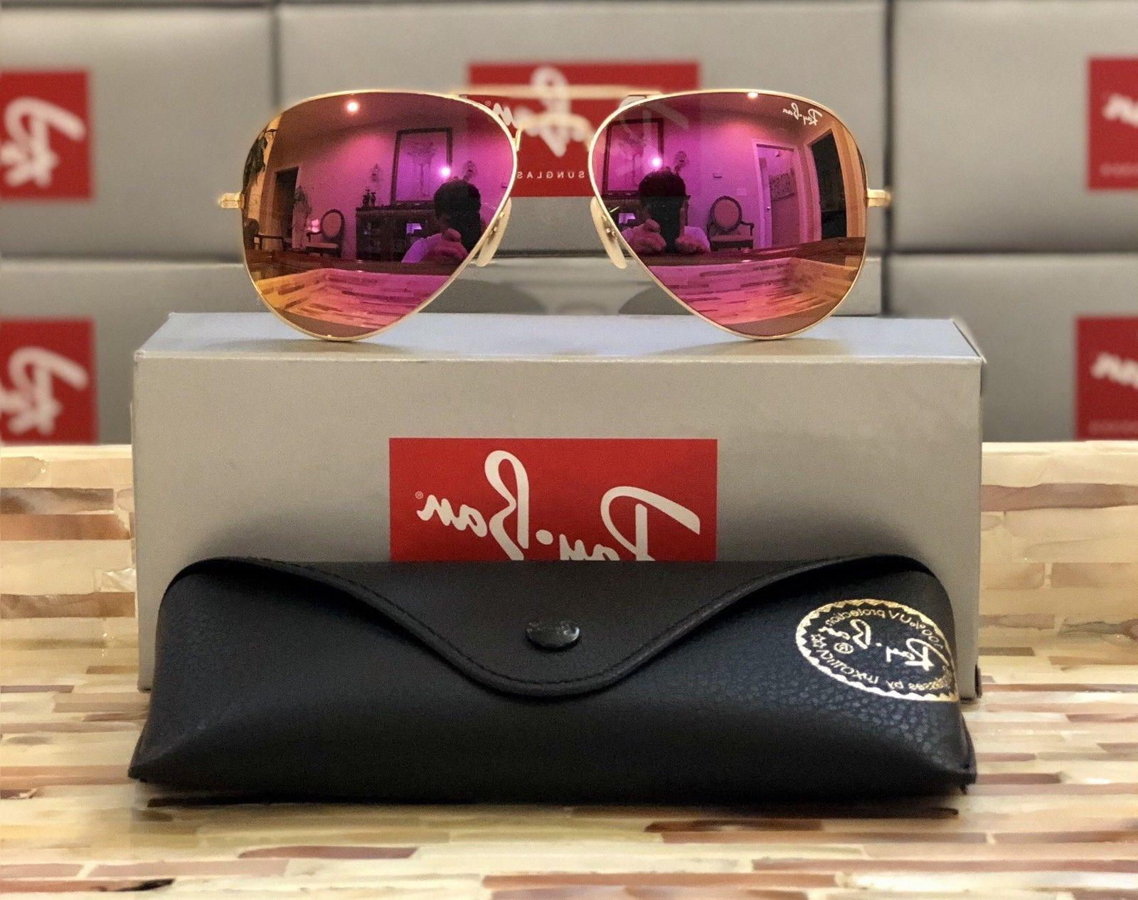 Ray-Ban Aviator Sunglasses RB3025 112/4T Matte Gold Frame/Cy