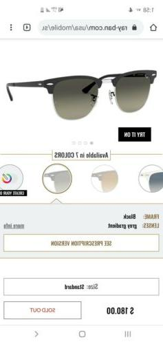 Ray-Ban Clubmaster 901/58 51mm Lens/Silver