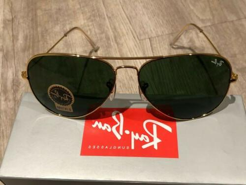 Ray-Ban Classic Gold Lenses Large