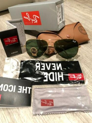 Ray-Ban Gold Lenses Large