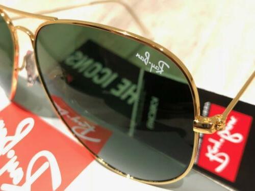 Ray-Ban Classic Gold Frame/Green Unisex Large