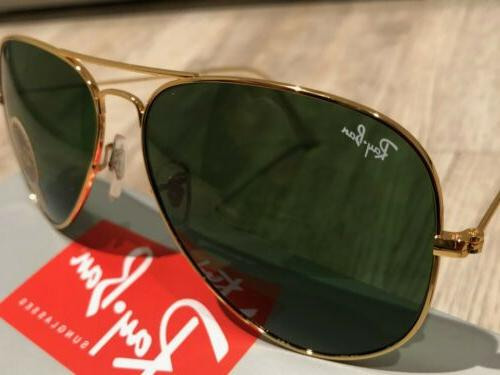 Ray-Ban RB3025 Aviator Classic Gold Frame/Green Lenses Large 62mm