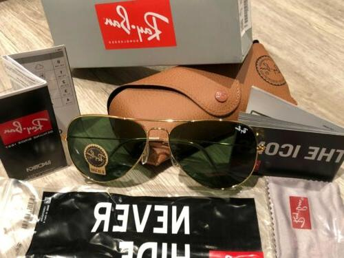 ray ban rb3025 aviator classic gold frame