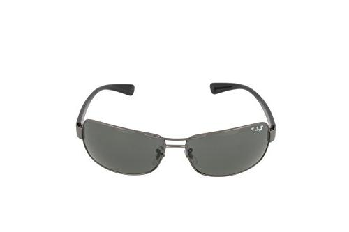 Ray Men's 004/58 Gunmetal/Green, Polarized Sunglasses