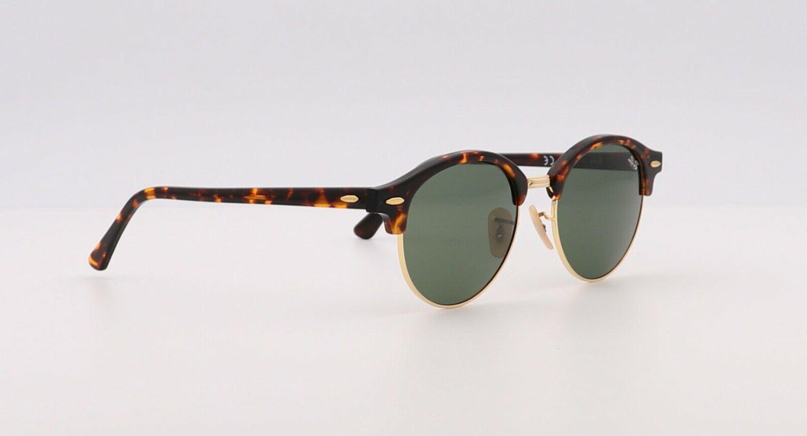 Ray-Ban RB4246 990 51MM Clubround Classic Gold Sunglasses