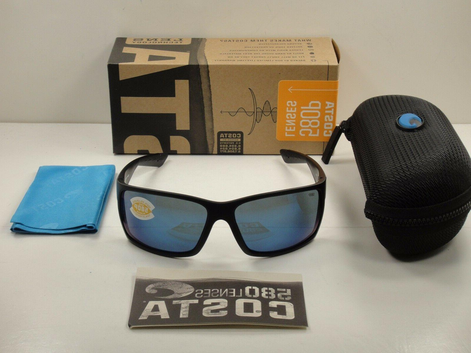 COSTA DEL MAR REEFTON POLARIZED RFT01 OBMP SUNGLASSES BLACKO