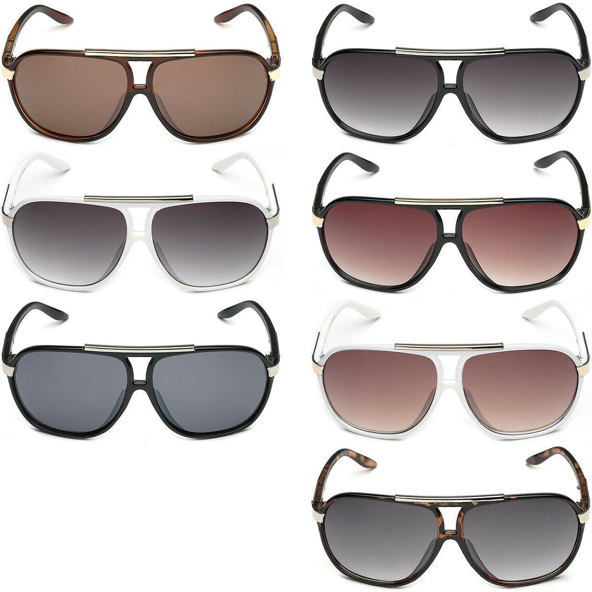 Retro 80s Fashion Sunglasses Black Men Women Vintage