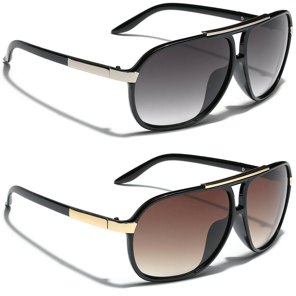 retro 80s fashion aviator sunglasses black white