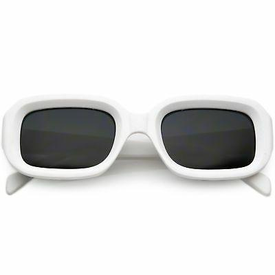 zeroUV - Retro Deep Inset Rectangle Lens Sunglasses