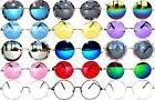 Retro Round Circle Colored Vintage Tint Sunglasses Metal Fra