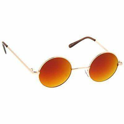 zeroUV Retro Sunglasses with Mirrored John Lenn