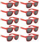 Retro Vintage Smoke Lens Sunglasses Red 10 Pack OWL.