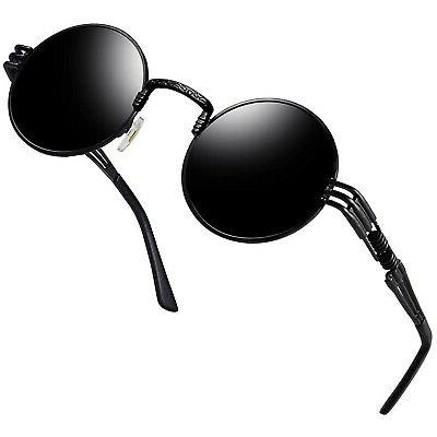 round retro polaroid sunglasses driving